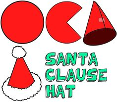 Craft Santa Hat Pattern – SANTA HATS CRAFTS FOR KIDS. Make Christmas Santa Clause Hats / Caps Activities with these arts & crafts instructions for children, teens, and preschoolers | The Best Patterns