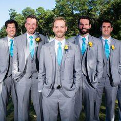 ♥♥♥ INSPIRAÇÃO: Casamento Azul Tiffany e Amarelo Quando duas cores queridinhas…