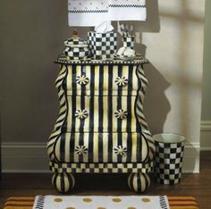 MacKenzie-Childs Courtly Stripe Bombay Chest
