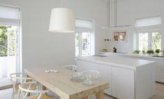 simple bright white kitchen