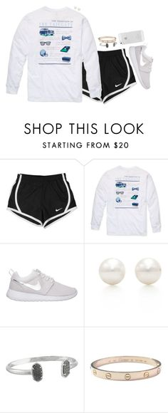 """Untitled #413"" by peypeythehappygirl ❤ liked on Polyvore featuring NIKE, Southern Proper, Tiffany & Co., Kendra Scott and Cartier"