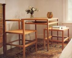 Judd, Donald - Frame table and chairs