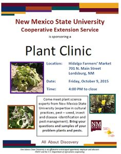 NMSU Plant Clinic: NMSU's Extension Service to Host Plant Clinics in ...