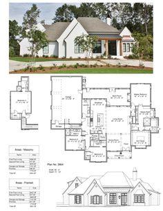 sydney hughes · dream home Dream House Plans, House Floor Plans, Porches, Bungalow, Architecture Unique, Atrium Design, Atrium House, Unique Floor Plans, Home Design Plans