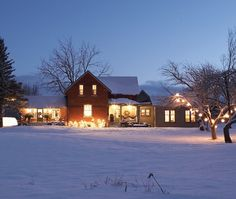 Sarah Richardson's holiday house. Yeah, I'd love to turn a barn into a house that I only use for winter vacation...