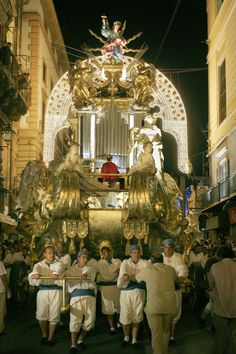 Festino di Santa Rosalia ( Palermo) a huge celebration of the holy protector of the capital of Sicily - July 14th