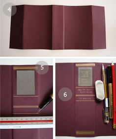 Deceptive dust covers - cover unsightly books with card in colour palettes of your choice and personalize to fit in with your decor.