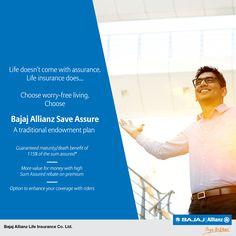 Extra talk-time with balance. Extra 'masala' with dosa. Love the extra? Then choose Bajaj Allianz Save Assure Endowment Policy. #JiyoBefikar