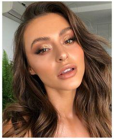 Natural Glam Makeup, Glam Makeup Look, Nude Makeup, Bronze Eye Makeup, Makeup Inspo, Elegant Makeup, Makeup Tips, Natiral Makeup, Gigi Hadid Makeup Natural