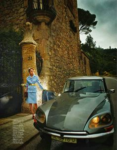 Citroen DS and Olga Maliouk