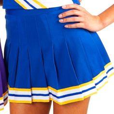 Blue And Yellow Pleated Skirt - 16 Pleat Skirt W Braid Cheerzone Yellow Pleated Skirt, White Skirts, Cheryl Blossom Riverdale, Riverdale Aesthetic, Cheerleader Costume, Cheerleading Uniforms, Betty Cooper, Sport, Short Skirts