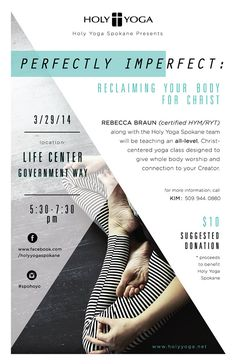 Flyer Design Holy Yoga Event Poster on Behance Poster Design Layout, Event Poster Design, Flyer Layout, Graphic Design Layouts, Brochure Design, Web Design, Event Posters, Poster Designs, Poster Ideas
