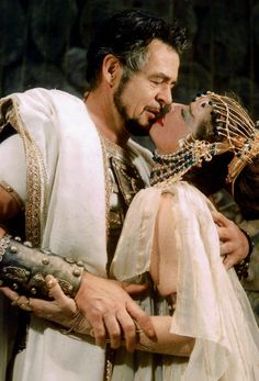 Burton and Tayler as Antony and Cleopatra (1960). Both Famous Couples