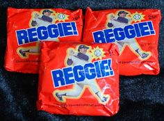 Remember when Reggie Jackson had his own Candy Bar? I do    This was my favorite candy bar at the time! Miss it!!!