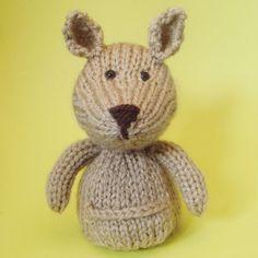 Kangaroo Toy Knitting Pattern (PDF). $3.50, via Etsy.