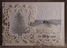 Embossing Folder Card with Heartfelt die cut outs. Classic Christmas Collection  