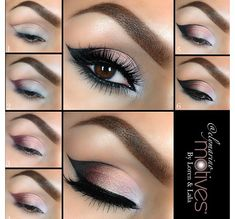 Pretty, but I don't think I'd outline the eye shadow with liner.
