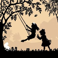 So enjoy silhouettes--amazing details. This one, of course, reminds me of my little girls.