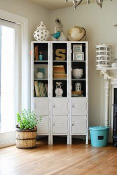 A Woman's Haven: House Haven Tour: Caught in Grace. Repurposed gym lockers
