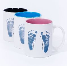 Baby Footprint Mug   a gorgeous personalised by BellyARTKeepsakes, $28.00 May need this when baby isn't sleeping