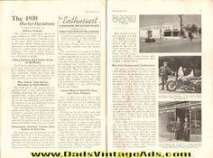 1938 September ''The Enthusiast'' Harley-Davidson Motorcycle Magazine Back-Issue
