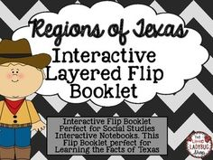 Regions of Texas {Interactive Layered Flip Booklet}Includes:-4 Main Texas Regions: Gulf Coastal Region, Central Plains Region, Great Plains Region, Mountains and Basins Region-Easy cutting guide to layer flip booklet-Chart to complete when students research each region-Cover Page**Before Printing, it is suggested to print in cardstock, however regular paper works perfectly!
