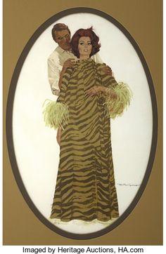 ROBERT MCGINNIS - Arabesque movie poster painting