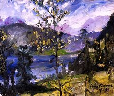 October Show at the Walchensee - Lovis Corinth