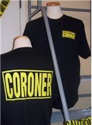 T-shirts from LA County Coroner gift store