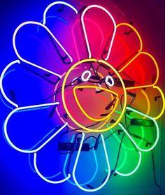 Neon Led, Led Neon Signs, Takashi Murakami Art, Hypebeast Room, Murakami Flower, Hypebeast Wallpaper, Bulletins, Sign Lighting, Retro Vintage