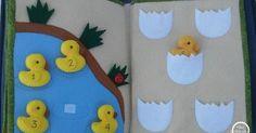 Duck pond quiet book page Diy Quiet Books, Baby Quiet Book, Felt Quiet Books, Baby Crafts, Felt Crafts, Sewing Crafts, Sewing Projects, Sewing Toys, Sewing Ideas