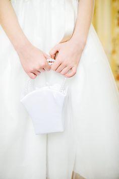 Champagne Wedding Flowergirl Basket