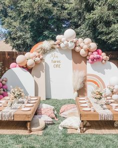 Baby First Birthday, 1st Birthday Parties, Happy Birthday, Diy Party Decorations, Balloon Decorations, Diy Decoration, Balloons Galore, Picture Backdrops, Event Pictures