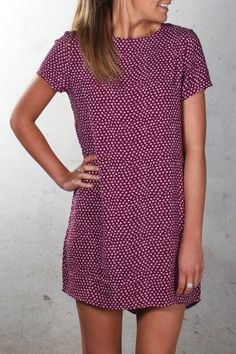 All About Eve - Good Fortune Dress Maroon