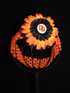 Oregon State OSU Beavers orange and black headband