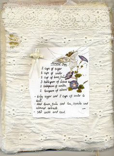 A fairy's recipe for tea....we must make some!!m