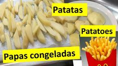Papas congeladas, patatas  PATATOES    NRO 1 Shrimp, Chicken, Meat, Vegetables, Youtube, Cold, Meals, Freezing Potatoes, Vinegar