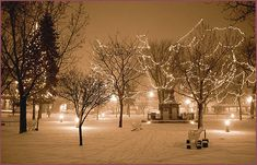 Santa Fe Plaza in Winter, sepia photograph by Woody Glloway, Santa Fe ...