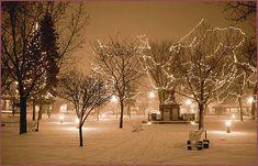Santa Fe Plaza in Winter, sepia photograph by Woody Glloway, Santa Fe ...