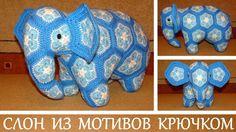 Слон из мотивов африанский цветок