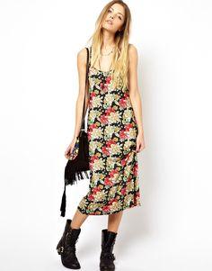 #ASOS Reclaimed Vintage Slip Dress in Big Floral.
