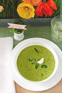 Take 15 minutes to mix up a batch of this light and refreshing Chilled Pea Soup. It's the perfect start for any spring lunch or dinner.