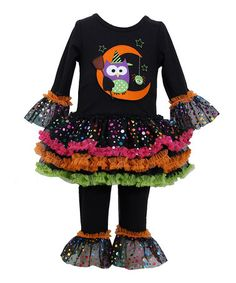 Another great find on #zulily! Black Owl Tutu Dress & Leggings - Infant by Gerson & Gerson #zulilyfinds