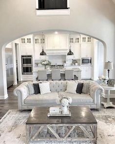 desertrose interiordesign home design dream living roomwhite - Home Design Living Room Ideas