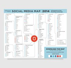 The latest Social Media Map from Overdrive Interactive.  So much information, so many channels.