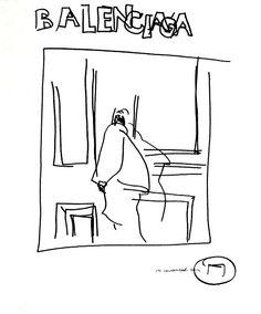 belle BRUT sketchbook: #Balenciaga #fashion #style #illustration #blindcontour © belle BRUT 2014   http://bellebrut.tumblr.com/post/94063472932/belle-brut-sketchbook-tbt-in-anticipation-of