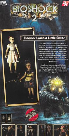 Eleanor Lamb and Little Sister action figure card back