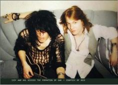 Rare photo of Axl and Izzy.