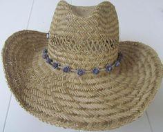 Ibiza stro hoed grijs