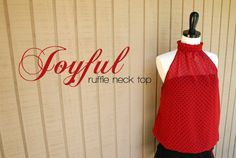 Joyful ruffle neck top by HowJoyful, via Flickr